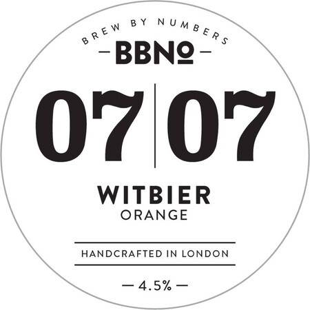 Brew By Numbers 07|07 Witbier - Orange – Buy Beer online on EeBriaTrade.com