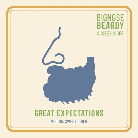 Bignose & Beardy Great Expectations (Medium Sweet Cider) (2017)  – Buy Cider online on EeBriaTrade.com