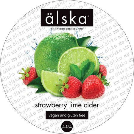 Alska Cider (Sweden) Alska Strawberry & Lime Flavoured Cider – Buy Cider online on EeBriaTrade.com