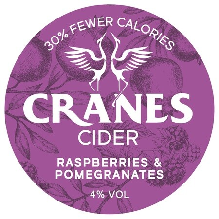 Cranes Cider Raspberries & Pomegranates (30l Keg) – Buy Cider online on EeBriaTrade.com