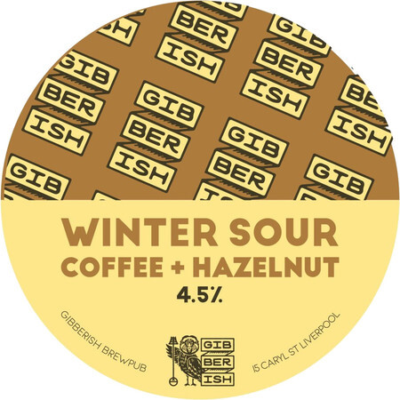 Gibberish Brewing Coffee and Hazelnut Winter Sour – Buy Beer online on EeBriaTrade.com