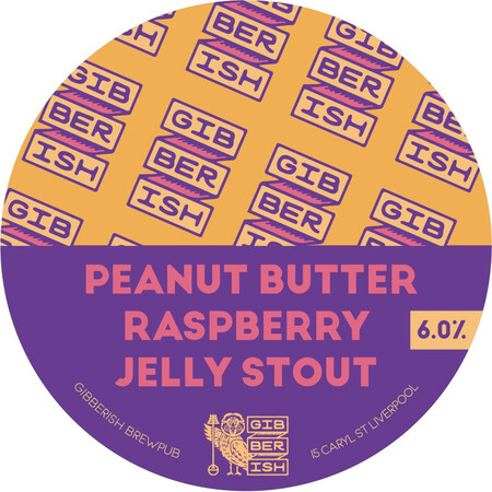 Gibberish Brewing Peanut Butter Raspberry Jelly Stout – Buy Beer online on EeBriaTrade.com