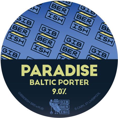Gibberish Brewing Paradise Baltic Porter – Buy Beer online on EeBriaTrade.com