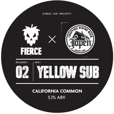 Fierce Beer Single Hop Project: 02 Yellow Sub Fierce x Jopen – Buy Beer online on EeBriaTrade.com