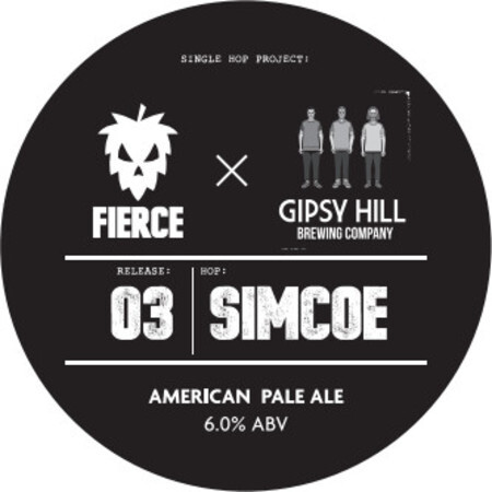 Fierce Beer Single Hop Project: 03 Simcoe Fierce x Gipsy Hill Brewing Co. – Buy Beer online on EeBriaTrade.com
