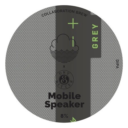 Cloudwater Brew Co Mobile Speaker Grey (KEG) – Buy Beer online on EeBriaTrade.com