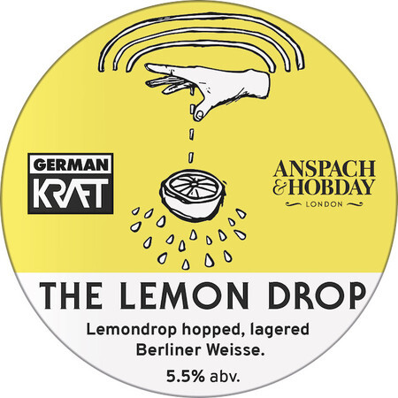 Anspach & Hobday The Lemon Drop: Lagered Berliner Weisse – Buy Beer online on EeBriaTrade.com