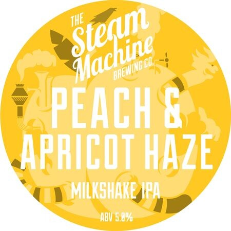 Steam Machine Brewing Co Peach & Apricot Haze Milkshake IPA – Buy Beer online on EeBriaTrade.com