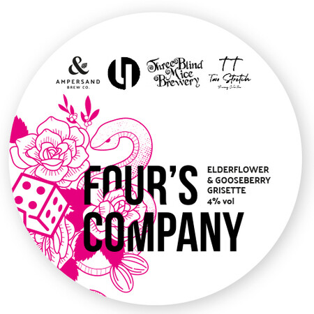 Ampersand Brew Co Four's Company - Elderflower & Gooseberry Grisette – Buy Beer online on EeBriaTrade.com