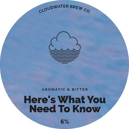 Cloudwater Brew Co Here's What You Need To Know (G. 715) (KEG) – Buy Beer online on EeBriaTrade.com