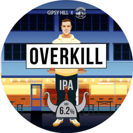 Gipsy Hill Brewing Co Overkill - NEIPA (Warpigs Collab) – Buy Beer online on EeBriaTrade.com