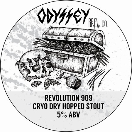 Odyssey Brew Co. Revolution 909 - Cryo Dry Hopped Stout – Buy Beer online on EeBriaTrade.com