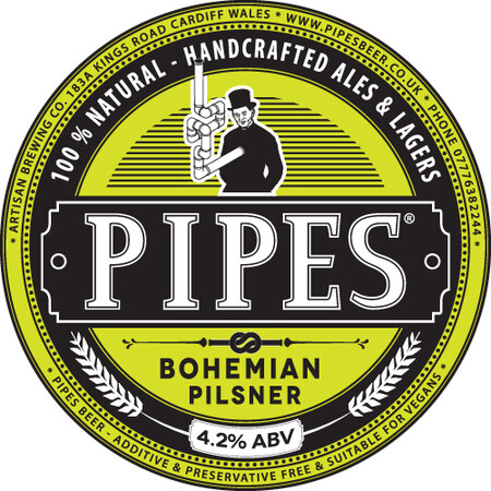 Pipes Brewery Bohemian Pilsner – Buy Beer online on EeBriaTrade.com