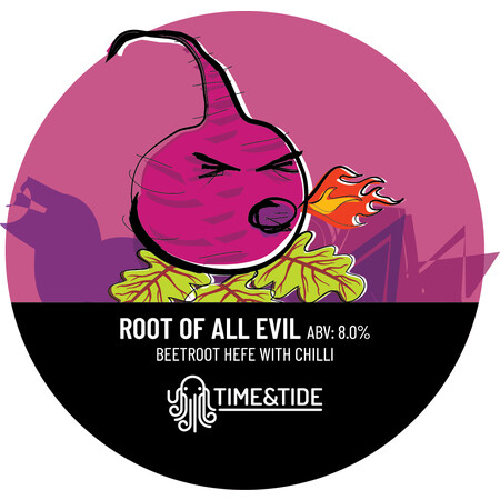 Time and Tide Brewing Root of All Evil - Beetroot Hefe with Chilli – Buy Beer online on EeBriaTrade.com