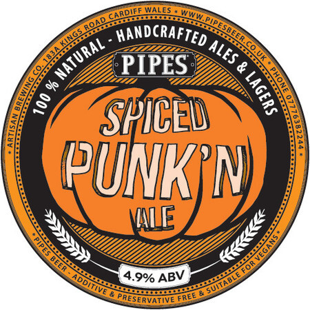 Pipes Brewery Spiced Punk'n Ale – Buy Beer online on EeBriaTrade.com