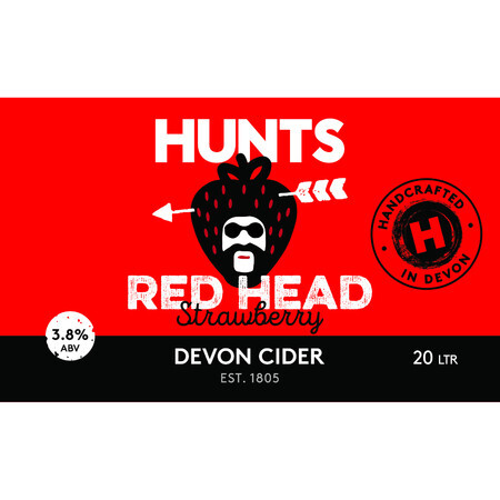Hunt's Cider Red Head Strawberry Cider – Buy Cider online on EeBriaTrade.com