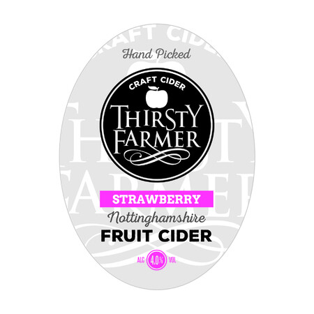Farmer Fear Cider Thirsty Farmer with a hint of... STRAWBERRY CIDER – Buy Cider online on EeBriaTrade.com