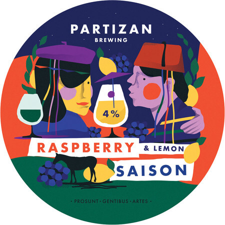 Partizan Brewing Raspberry & Lemon Saison – Buy Beer online on EeBriaTrade.com