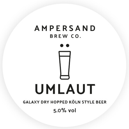 Ampersand Brew Co Umlaut - Galaxy Dry Hopped Köln Style Beer – Buy Beer online on EeBriaTrade.com