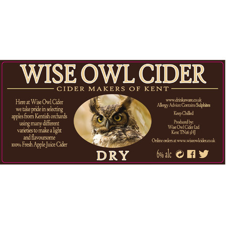 Wise Owl Cider Dry  – Buy Cider online on EeBriaTrade.com