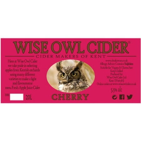 Wise Owl Cider Cherry  – Buy Cider online on EeBriaTrade.com