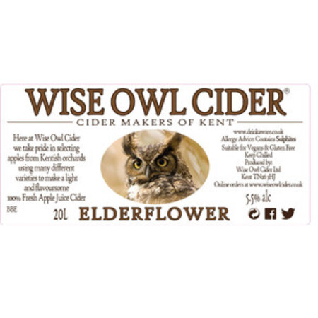 Wise Owl Cider Elderflower – Buy Cider online on EeBriaTrade.com