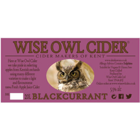 Wise Owl Cider Blackcurrant  – Buy Cider online on EeBriaTrade.com