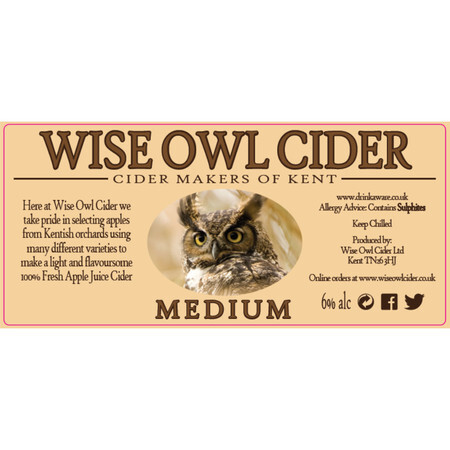 Wise Owl Cider Medium – Buy Cider online on EeBriaTrade.com
