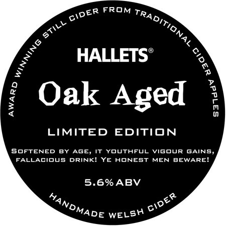 Hallets Real Cider Oak Aged – Buy Cider online on EeBriaTrade.com